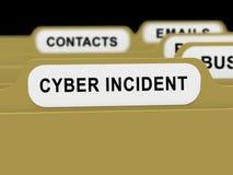 För dataattack för Cyber infallande tolkning för varning 3d Royaltyfria Foton