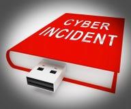 För dataattack för Cyber infallande tolkning för varning 3d Arkivbilder