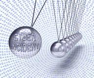 För dataattack för Cyber infallande tolkning för varning 3d vektor illustrationer