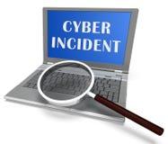 För dataattack för Cyber infallande tolkning för varning 3d stock illustrationer