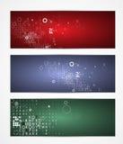För datateknikaffär för abstrakt kub digitalt baner Royaltyfri Foto