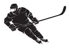 för datordesign för 2d backgroound svart stil för hockeyspelare för diagram för brand stock illustrationer