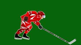 för datordesign för 2d backgroound svart stil för hockeyspelare för diagram för brand stock video