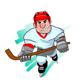 för datordesign för 2d backgroound svart stil för hockeyspelare för diagram för brand Royaltyfri Bild