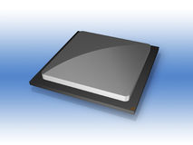 för datorprocessor för CPU 3D chip Royaltyfri Fotografi