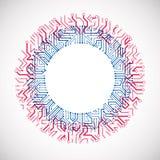För datorströmkrets för vektor abstrakt illustration för bräde färgrik, bl Royaltyfri Bild