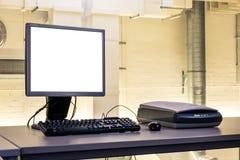 För datorWorkdesk för fabrik industriell kontrollbord Y underhåll royaltyfri bild