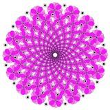 För Deco för vektor härlig Mandala monokrom kontur Royaltyfri Bild