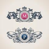 För dekorativa Calligraphic prydnad beståndsdelkrusidullar för tappning Royaltyfri Bild