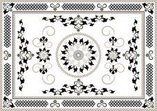 för dekorativt orientalisk modell ramdiagram för konster royaltyfri illustrationer