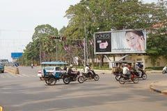 för den cambodia för angkoren skördar banteay lotuses laken siemsreytempelet Royaltyfri Foto