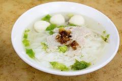 För Fishball för Southeast asiatisk Soup nudel royaltyfria bilder