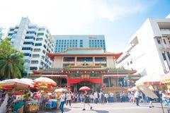 ` För den `-Kwan Im Thong Hood Cho templet är en tempel för traditionell kines, Bugis, Singapore royaltyfri bild