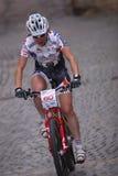 för den prague för 2011 cykel red cecile ravanel racen Royaltyfria Foton