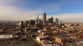 För Denver Colorado Capital City Downtown för östlig sida horisont stad arkivfilmer
