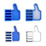 för designdatalista för hyllor 3D färg för blue Royaltyfri Foto