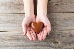 för designdiagrammet för choklad 3d illustrationen för hjärta framförde Royaltyfri Foto