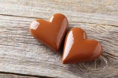 för designdiagrammet för choklad 3d illustrationen för hjärta framförde Arkivbilder