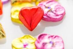för designdiagrammet för choklad 3d illustrationen för hjärta framförde Arkivfoton
