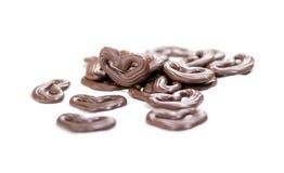 för designdiagrammet för choklad 3d illustrationen för hjärta framförde Royaltyfri Bild