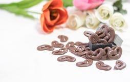för designdiagrammet för choklad 3d illustrationen för hjärta framförde Royaltyfri Fotografi