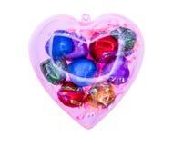 för designdiagrammet för choklad 3d illustrationen för hjärta framförde Royaltyfria Foton