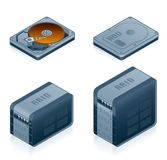 för designelement för dator 55d inställda symboler för maskinvara Royaltyfria Bilder