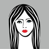 för designelement för skönhet coloful illustration för flicka för framsida Royaltyfri Foto