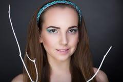 för designelement för skönhet coloful illustration för flicka för framsida Arkivfoton