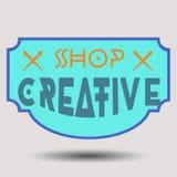 För designgradbeteckningar för blandad färg retro logotyper Royaltyfri Fotografi