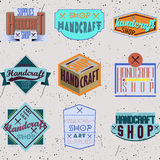 För designgradbeteckningar för färg retro uppsättning för logotyper Royaltyfria Bilder
