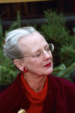 FÖR DESIGNJUL FÖR DROTTNING MARGRETHE STÄMPEL Royaltyfria Foton