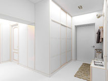för designkorridor för korridor 3d framför inre moderna 3d framför Arkivbild