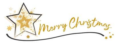 För designkort för glad jul Calligraphic märka mall vektor illustrationer