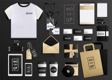 För designmall för företags identitet uppsättning Modellpacke, minnestavla, telefon, prislapp, kopp, anteckningsbok vektor illustrationer