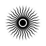 För designvektor för sol konstnärlig illustration för symbol arkivbilder