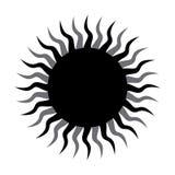 För designvektor för sol konstnärlig illustration för symbol arkivfoton