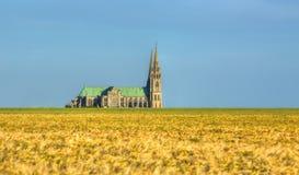 för det chartres för domkyrkan listade den katolska listan för landmarken för ladyen arvet gammalt vår unesco-värld royaltyfria foton