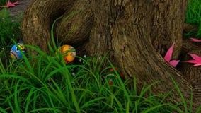 för det easter för bakgrundspojken isolerade den gullig jakten för gräs för ägg ägget ny dolde green sökande av white Royaltyfri Foto