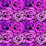 För det sömlösa modellen för färgpulver handhantverket för blommor steg den uttrycksfulla royaltyfri illustrationer