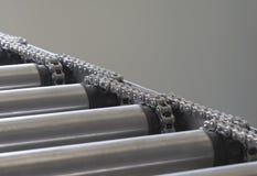 för detaljdof för chain transportör grund rulle fotografering för bildbyråer