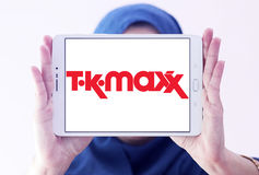 För detaljhandelföretag för TK Maxx logo Arkivfoton
