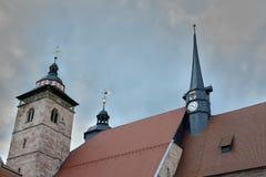 för detaljkupol för klocka kyrklig sikt för torn för torn Royaltyfria Foton