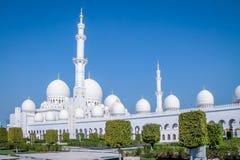 för dhabiemirates för abuen zayed den förenade arabiska största sheikhen för regionen för moské en för golfen Fotografering för Bildbyråer