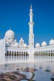 för dhabiemirates för abuen zayed den förenade arabiska största sheikhen för regionen för moské en för golfen Royaltyfri Bild