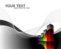 för diagramillustration för bakgrund mörk wave Arkivfoto