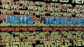 för diagramnyheterna för abstrakt bakgrund 3d framför den blåa bilden världen Royaltyfri Fotografi