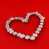 för diamanthjärta för konst 3d form för förälskelse för illustration Royaltyfri Foto