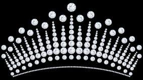 för diamantkrona för illustration 3D tiara med att blänka dyrbar sto royaltyfri illustrationer