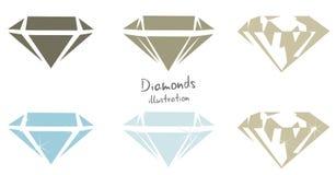 för diamantmapp för Adobe tillgänglig illustratör för illustration Arkivbilder